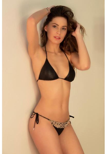 Bikini Triangolo e Slip Laccetti con Tulle