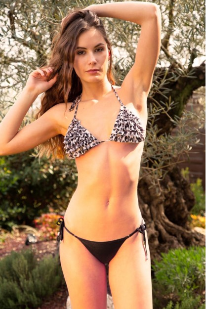 Triangle bikini with Volant and Brazilian Shop Online