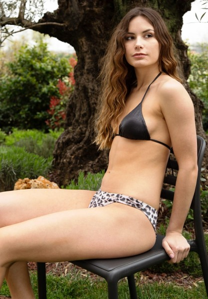 Bikini Triangolo Brinato e Brasiliana Chiusa Maculato
