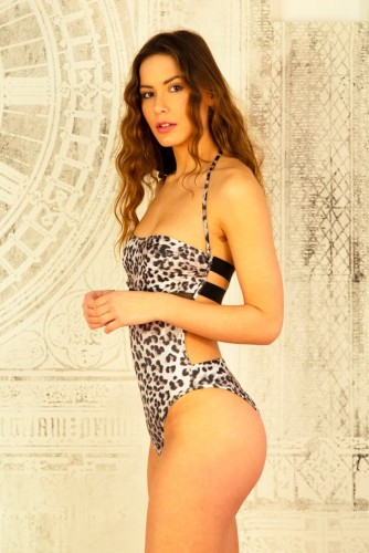 OOne-Piece Swimsuit ith tulle under the breast Shop Online