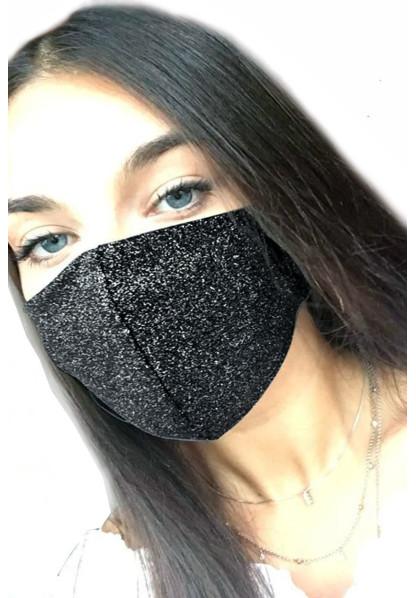 Mascherina VIso Nero Glitter