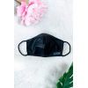 Black frosted Face Mask